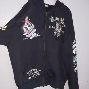 Vintage Don Ed Hardy New York hoodie sweatshirt